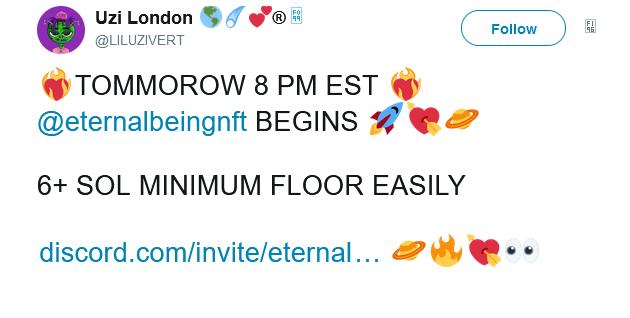 Giá NFT của Eternal Beings bất ngờ lao dốc sau khi rapper Lil Uzi Vert xóa các bài đăng trên Twitter