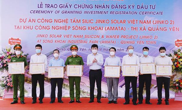 Jinko Solar đầu tư dự án hơn 365 triệu USD tại Quảng Ninh