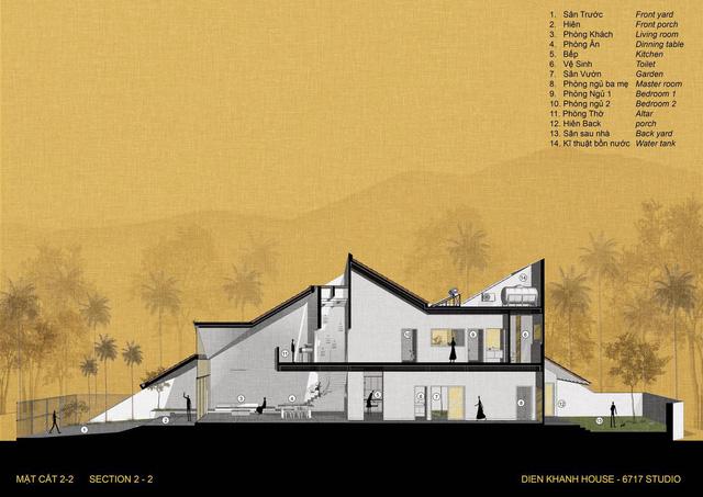 Lạ với ngôi nhà hình ống 2 tầng sử dụng mái ngói làm mặt tiền - Ảnh 7.