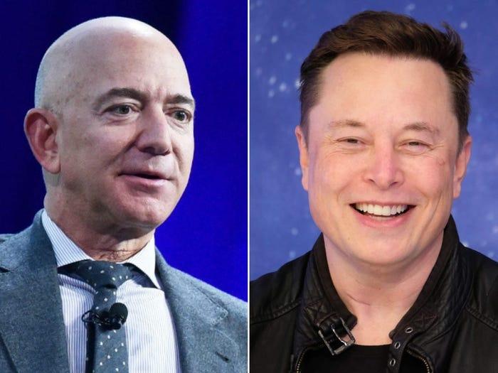 Bezos và Musk trở thành tỷ phú keo kiệt