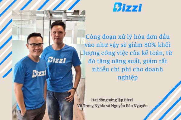 Startup lập hóa đơn điện tử Bizzi gọi vốn thành công 3 triệu đô la - Đồng sáng lập Vũ Trọng Nghĩa và Nguyễn Bảo Nguyên