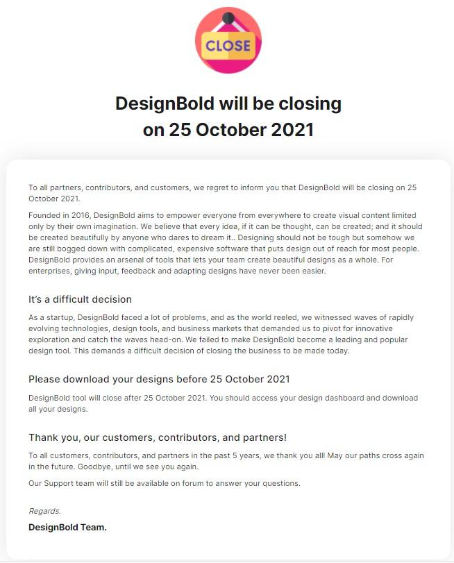 """Startup """"gà đẻ trứng vàng"""" Designbold tuyên bố đóng cửa từ 25/10, CEO Hùng Đinh muốn tập trung vào lĩnh vực blockchain 1"""